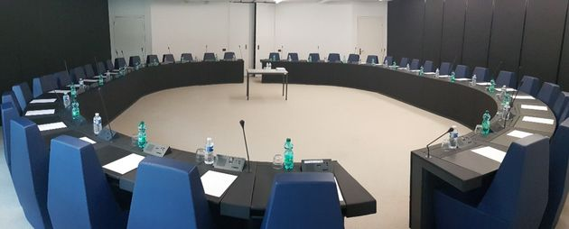 The room both MEPs entered for their