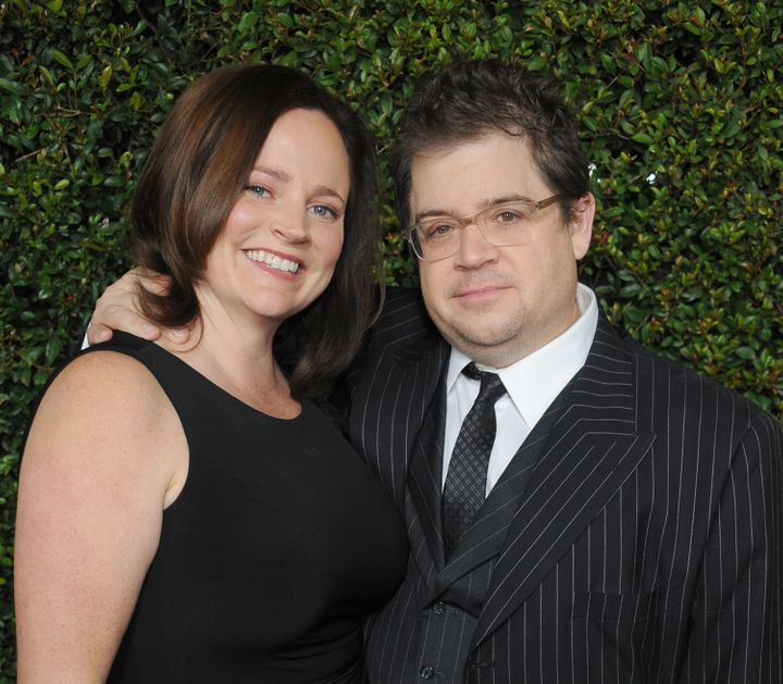 Patton Oswalt and late wife Michelle McNamara arrive at the 'Young Adult' Los Angeles Premiere on Dec. 15, 2011 in Beverly Hi