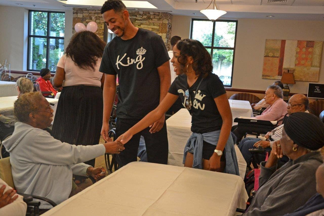 Oni Burrell and Philip Colston decided to make time for volunteering during the weekend.