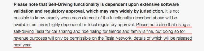 "A sentence on Tesla's website, underlined in red by HuffPost, hints at a forthcoming ""Tesla Network."""