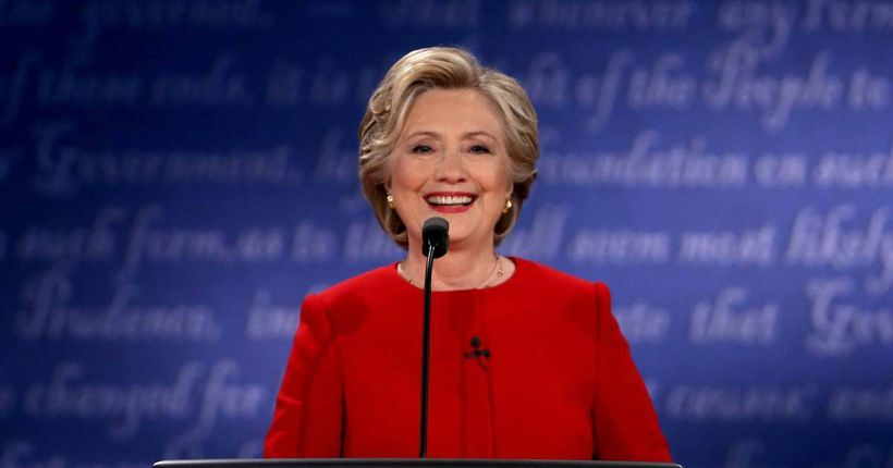 """""""I prepared to be president, and I think that's a good thing,"""" said Hillary Clinton, Democratic U.S. presidential nominee, du"""