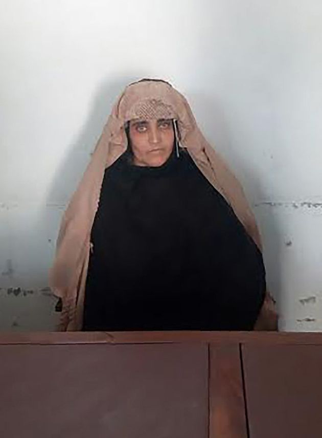 Sharbat Gula waits for a court hearing in Peshawar,