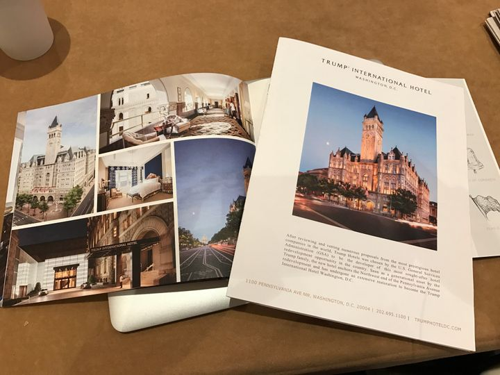 Promotional booklets about Donald Trump's hotel in Washington, D.C.