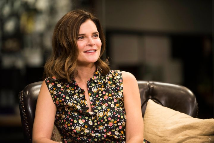 Betsy Brandt visits The Huffington Post on Oct. 26, 2016.