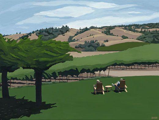 Enjoying the View, by Richard Baker, 24 x 32