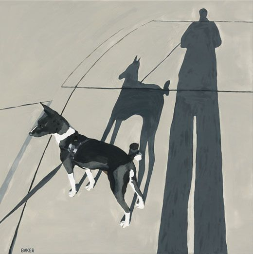 Dog Noir by Richard Baker, 24 x 24