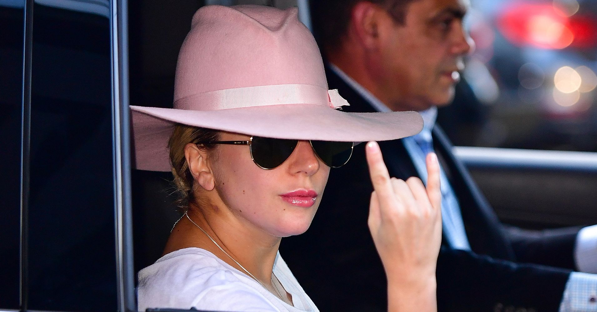 Here s The Deal With That Pink Hat Lady Gaga s Been Wearing ... ae41eb76407