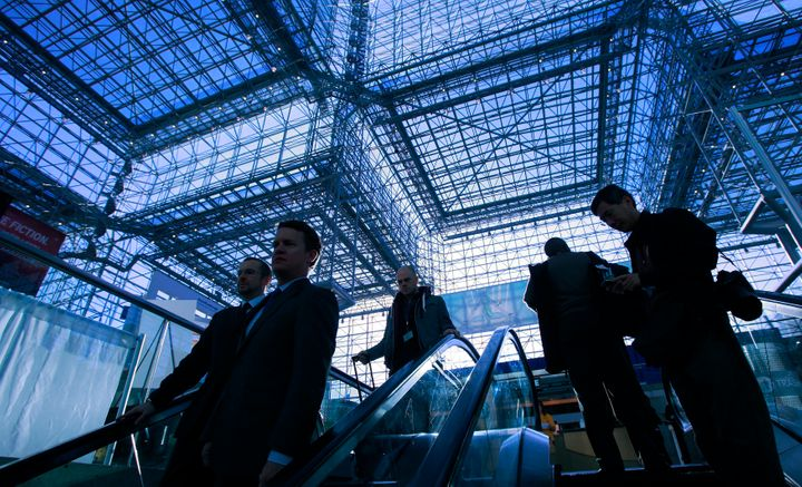 Clinton will deliver election night remarks under a literal glass ceiling.