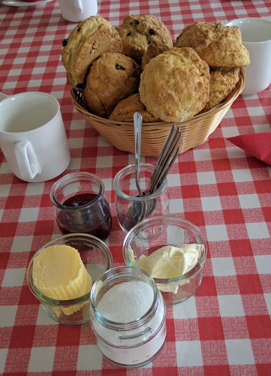 Hikers are rewarded with scones