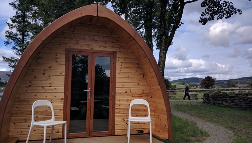 Overnight hikers can stay in compact pods