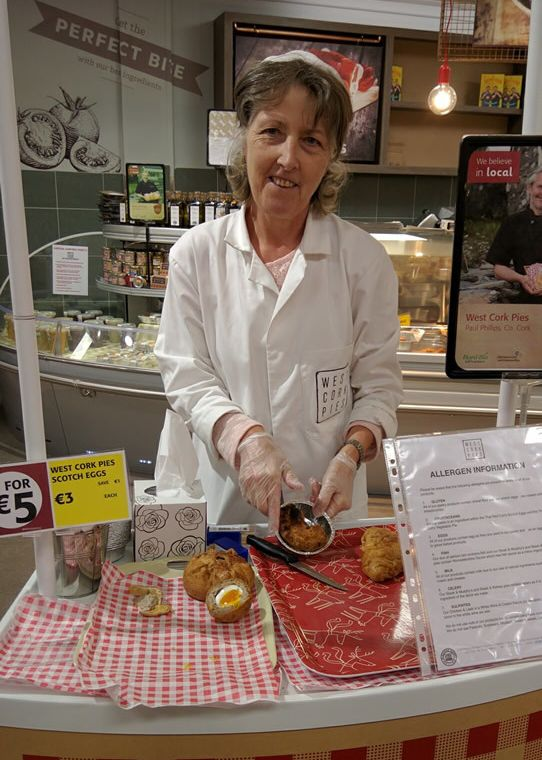 Scotch pie samples offered at Fields