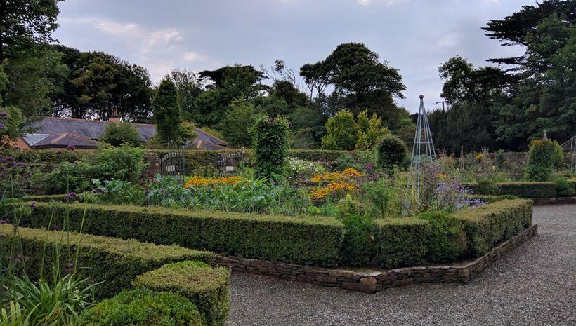 Produce is raised in walled garden plots