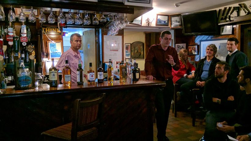 A whiskey tasting was held in Bushe's Bar