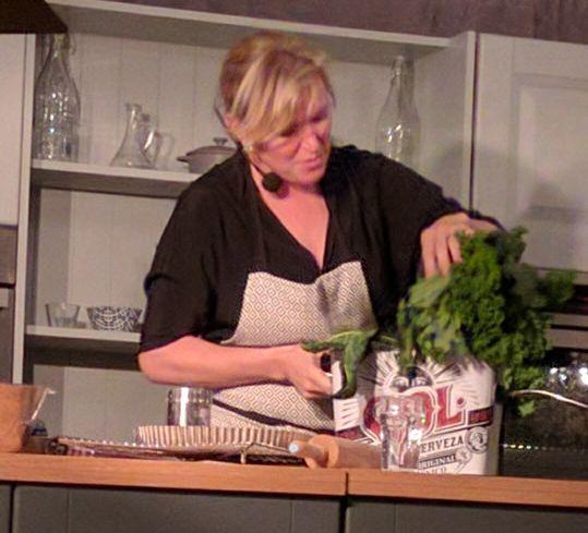 Rachel Allen led a cooking demonstration