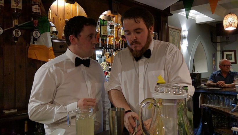 Bartenders concocted special drinks
