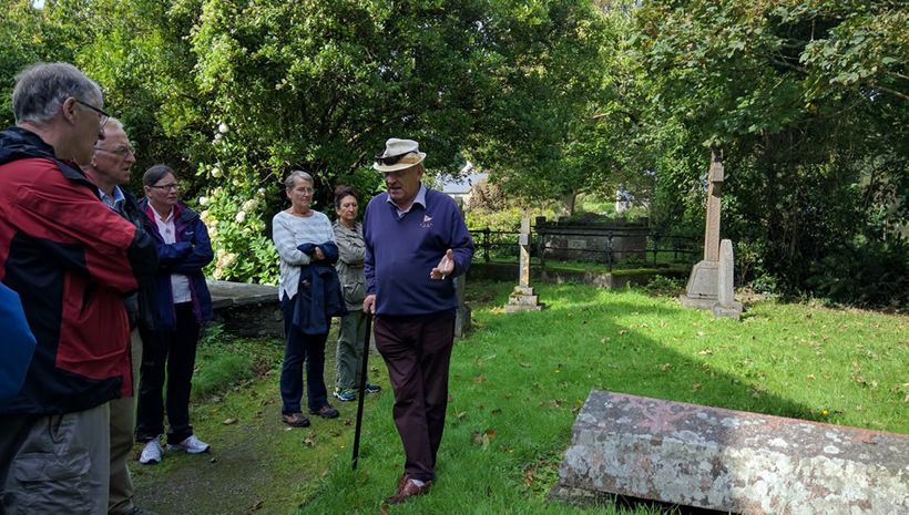 Guide Robert Townshend pointed out memorials to his forbearers