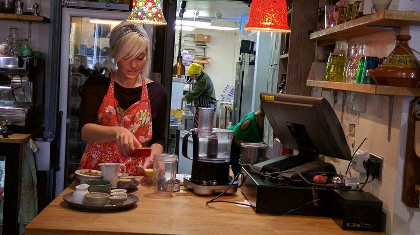 Louise Kelly demonstrated Vegan Cooking