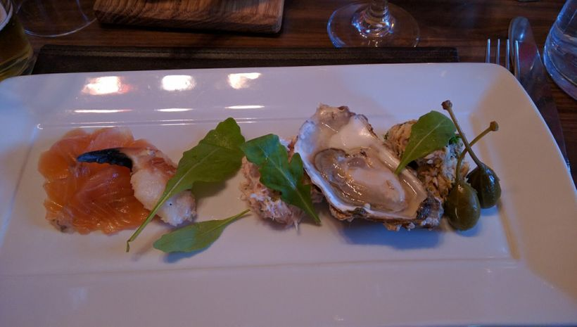 Fish Kitchen's first course of local sea treats