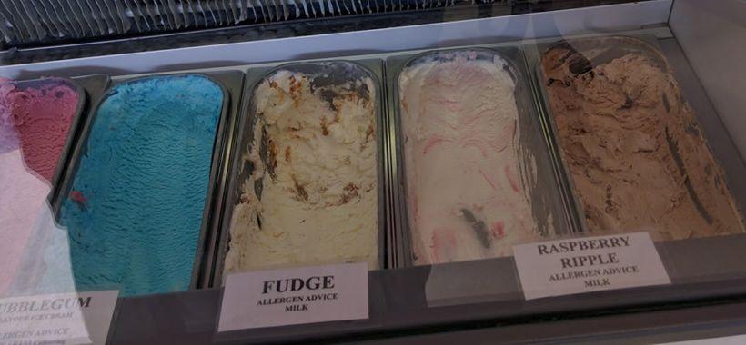 Ice cream flavors vary daily