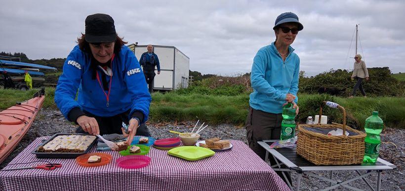 Back ashore served Maria seaweed treats