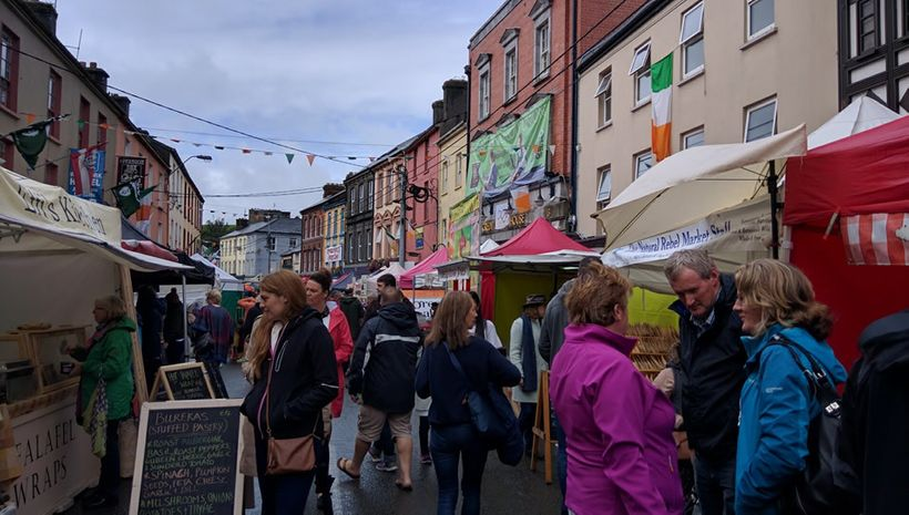 A Sunday market concluded the festival