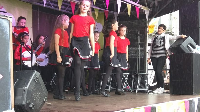 Local dancers performed on stage