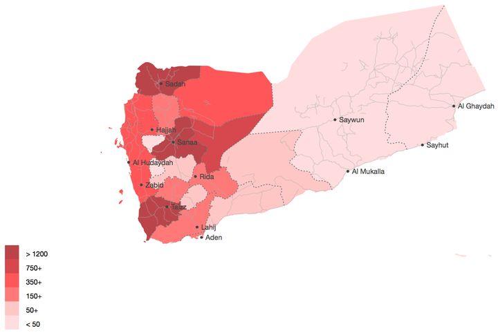 Air-strikes by location