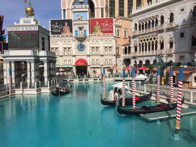 The Venetian's famous gondola rides.