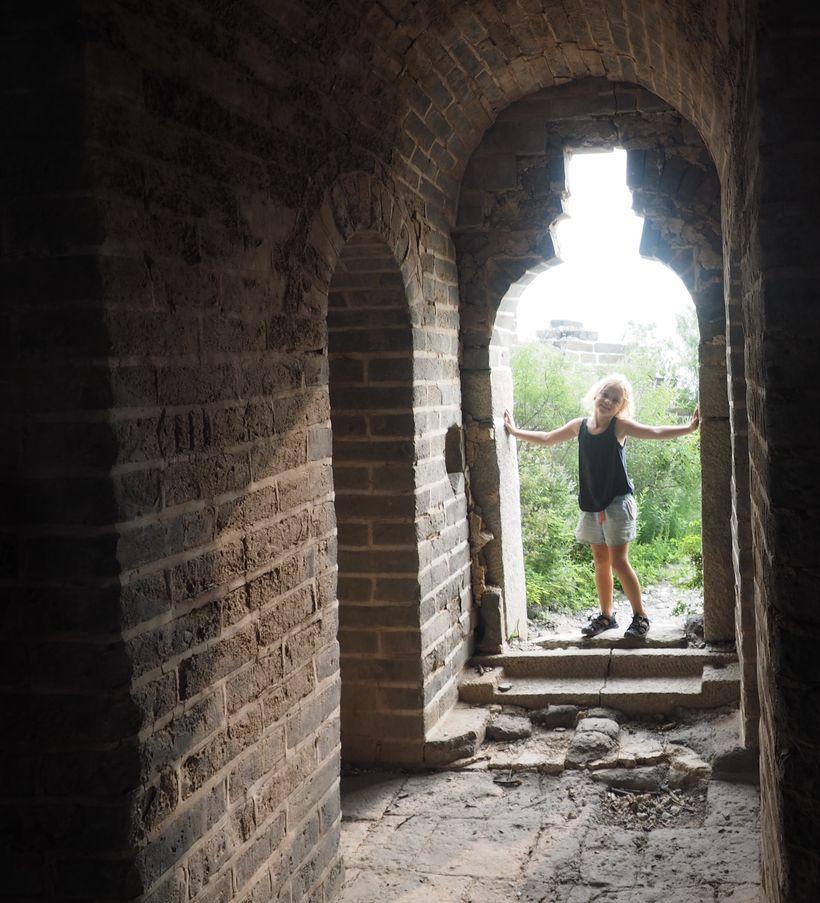 Emmie exploring the Jade Watchtower