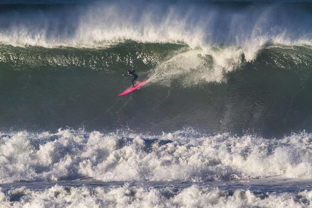 Bianca Valenti, pictured above, is no stranger to the monstrous waves that break at Mavericks in Half...