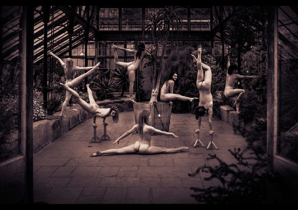The gymnasts show off their incredible moves in the iconic Botanic