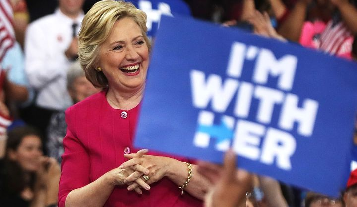 Hillary Clinton at a July rally in Philadelphia.