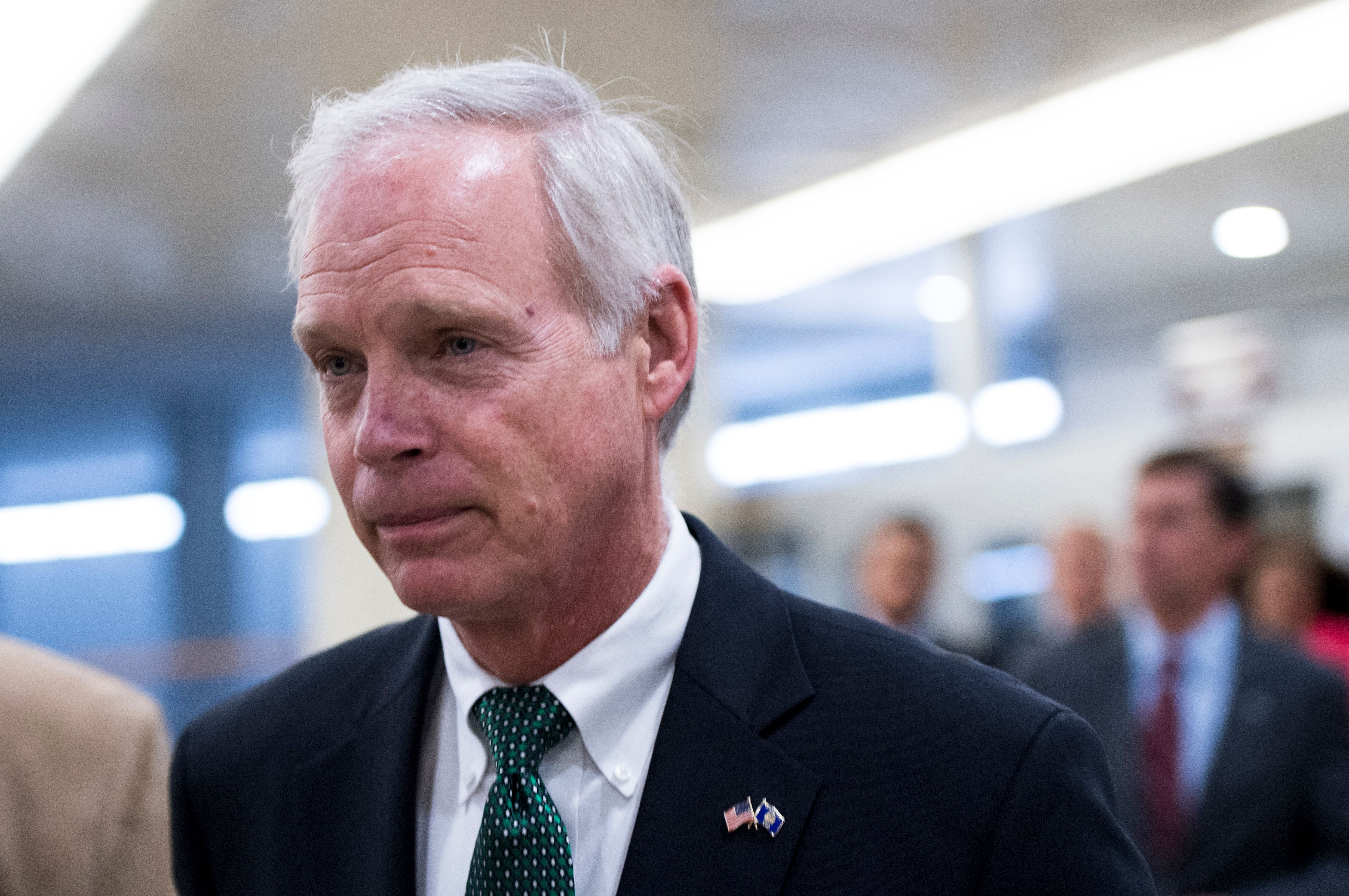 Sen. Ron Johnson (R-Wis.) arrives in the Capitol for a vote on Sept. 15, 2016.