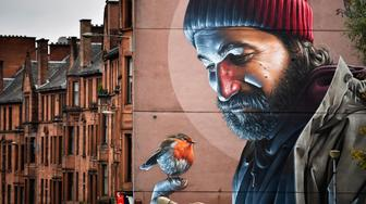 GLASGOW, SCOTLAND - OCTOBER 26:  A view of one of the latest murals near Glasgow cathedral on October 26, 2016 in Glasgow, Scotland. The murals have been appearing across the city for a since 2008 with new ones appearing on a regular bases rejuvenating bare walls revitalising tired corners of Glasgow. Now a new Mural Trail has been devised with a huge range of them on display within a short walking distance from the city centre.  (Photo by Jeff J Mitchell/Getty Images)