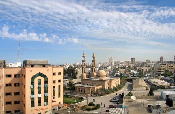 The mosque at the Islamic University of Gaza in Gaza City, as seen in 2009.