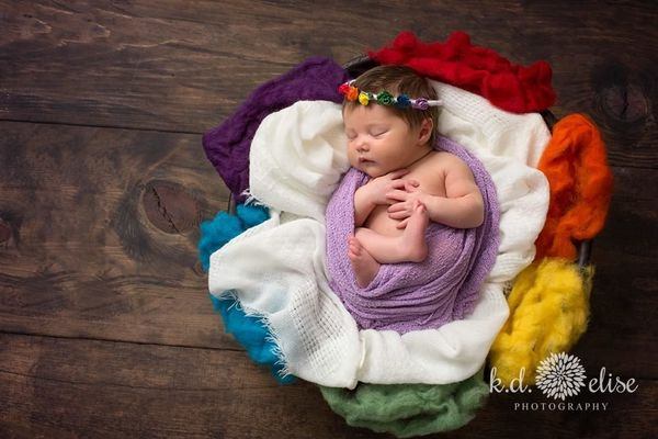 "Mirranda Reinhardt from K.D. Elise Photography <a href=""http://www.kdelise.com/rainbow-baby-newborn-session-alexis/#Show"