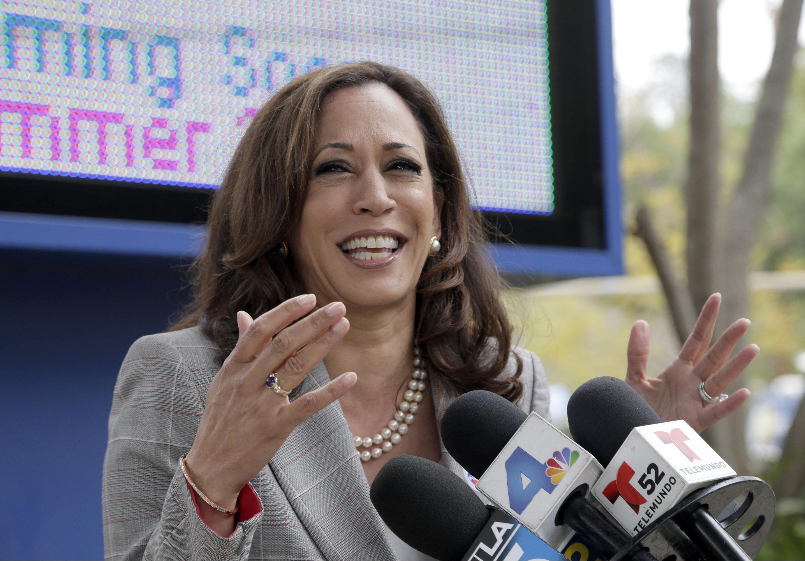 Kamala Harris is the next senator from California.