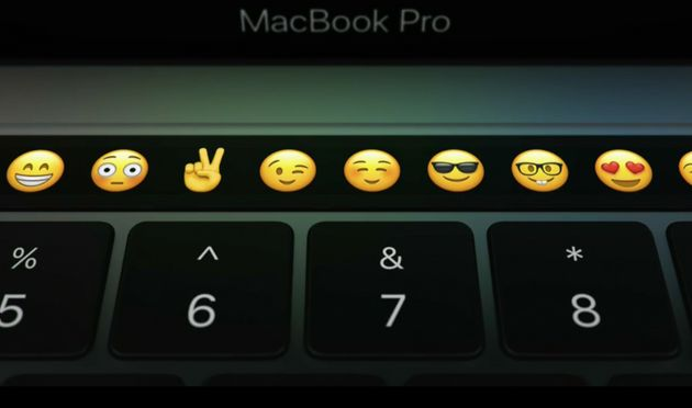 Apple's new Touch Bar, complete with
