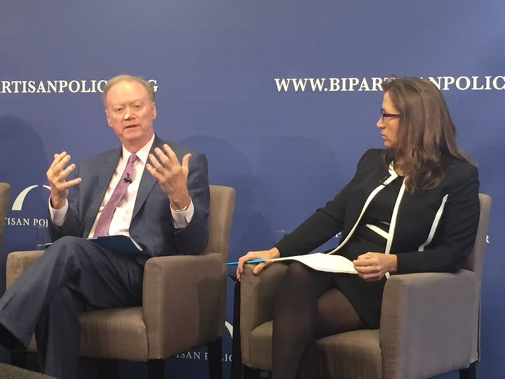 Tom Schedler, secretary of state for Louisiana, and Natalie Tennant, secretary of state for West Virginia, spoke about t
