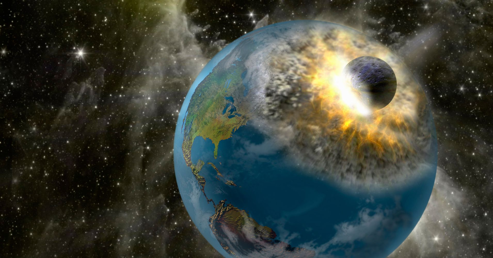 asteroids earth collision - HD 1910×1000