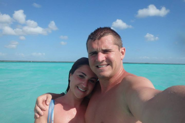<p>Us at Laguna Bacalar, Mexico</p>