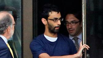 Dharun Ravi (C), convicted of a bias crime for using a webcam to spy on his gay roommate's tryst, leaves Middlesex County jail with his attorney Steve Altman (L) in North Brunswick, New Jersey, U.S. on June 19, 2012.   REUTERS/Chip East/File Photo