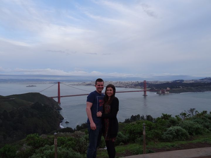 <p>Us at the Golden Gate Bridge, San Francisco</p>