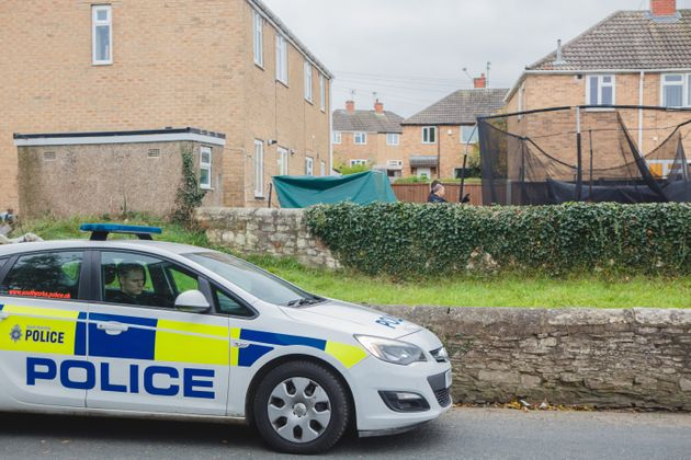 The scene in Doncaster where a 13 year old boy died in a shed