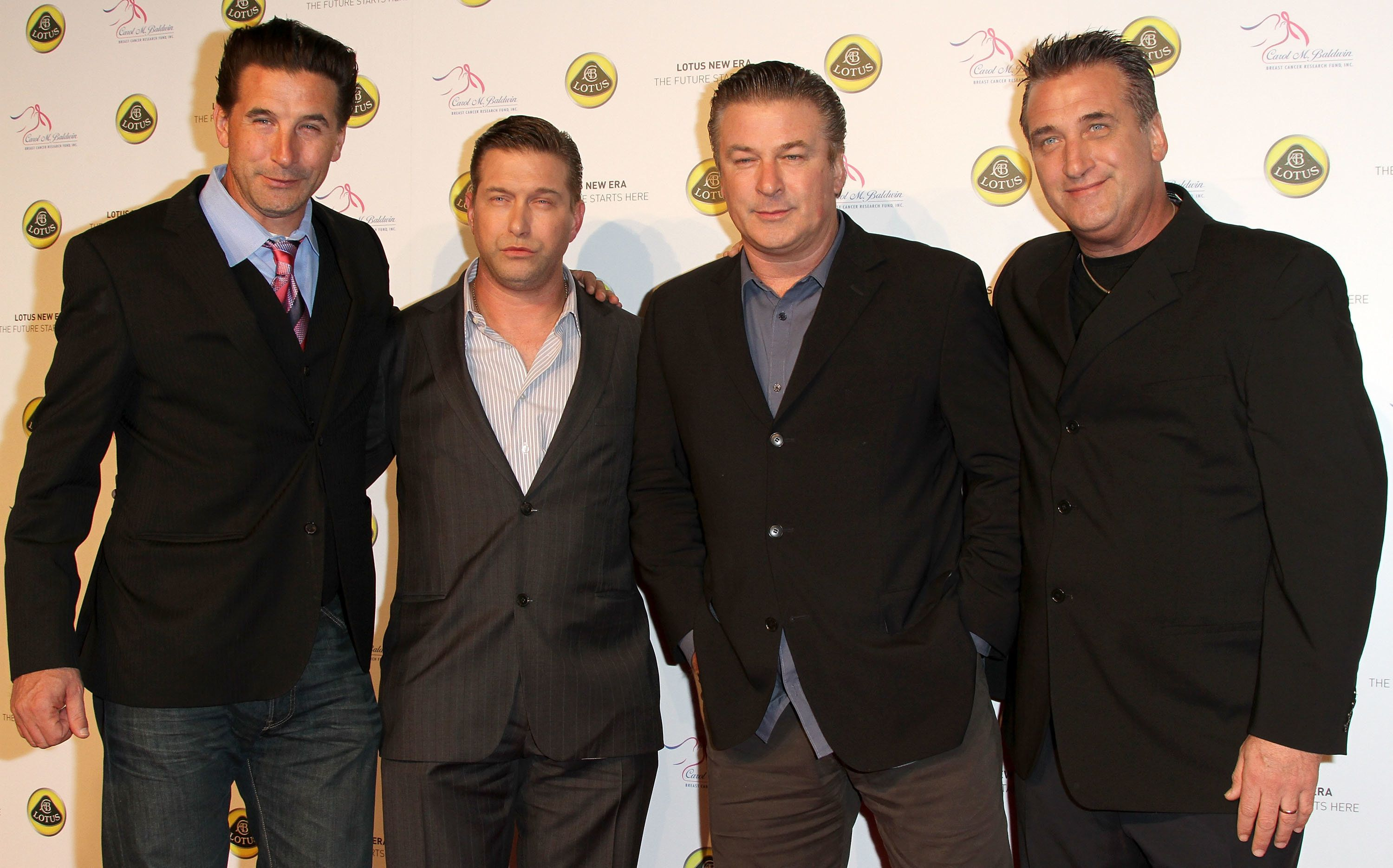 (L-R) Actors and brothers Billy, Stephen, Alec and Daniel Baldwin arrive for the Lotus Cars Launch event on November 12, 2010 in Los Angeles, California.  AFP PHOTO/VALERIE MACON (Photo credit should read VALERIE MACON/AFP/Getty Images)
