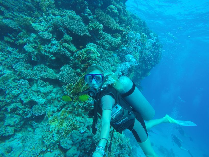 I stayed in Hurghada on my own so I could go scuba diving in the Red Sea!