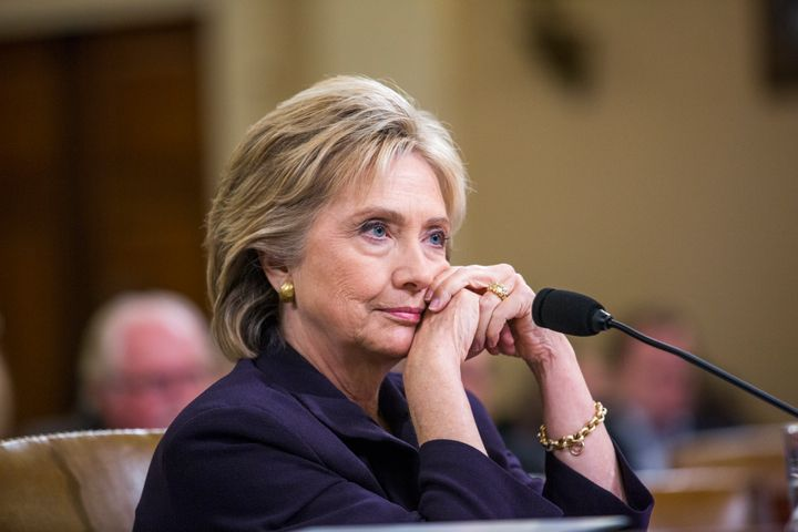 Former Secretary of State and Democratic presidential candidate Hillary Clinton testifies before the House Select Committee o