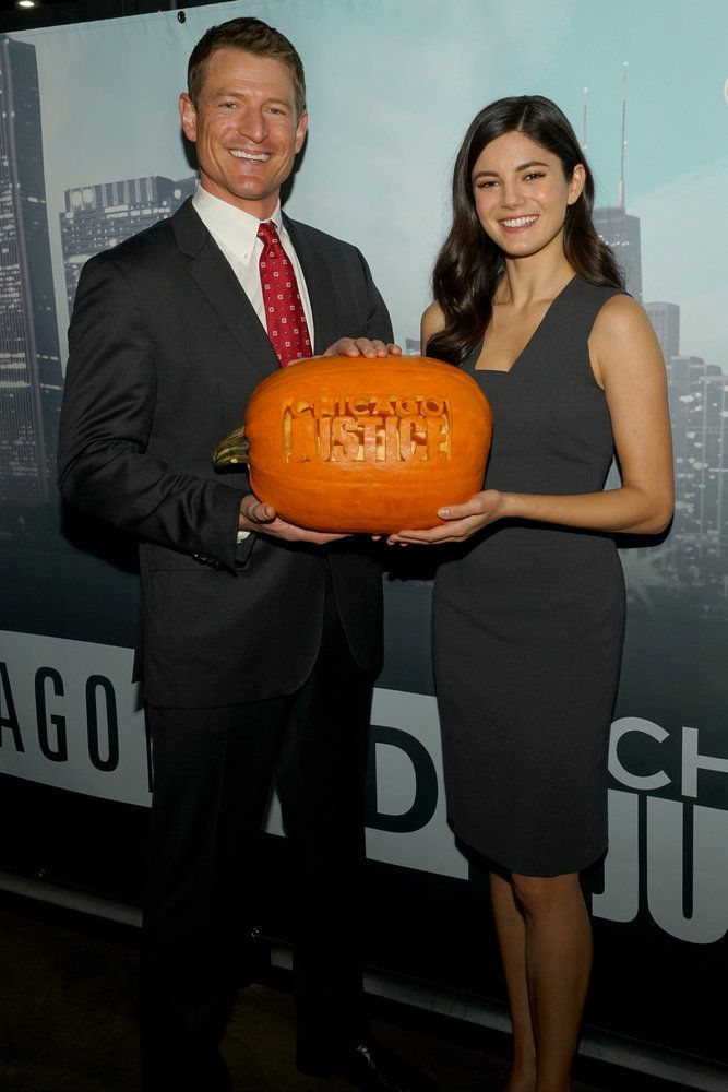 """NBCUNIVERSAL EVENTS -- """"One Chicago Day"""" -- Pictured: (l-r)  Philip Winchester, Monica Barbaro, """"Chicago Justice"""" at the """"One"""