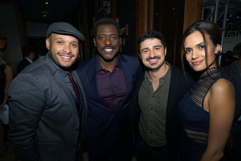 """NBCUNIVERSAL EVENTS -- """"One Chicago Day"""" -- Pictured: (l-r) Joe Minoso,  """"Chicago Fire"""", Eamonn Walker, """"Chicago Fire"""", Yuri"""