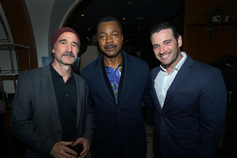 """NBCUNIVERSAL EVENTS -- """"One Chicago Day"""" -- Pictured: (l-r) Elias  Koteas, """"Chicago P.D."""", Carl Weathers, """"Chicago Justice"""","""